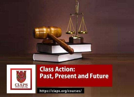 Class Action: Past Present and Future