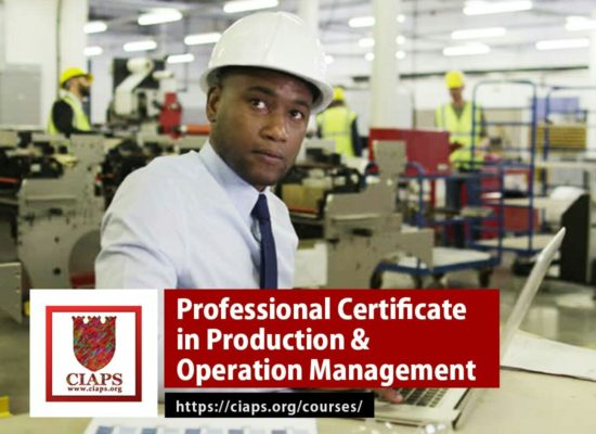 Professional Certificate in Production and Operation Management