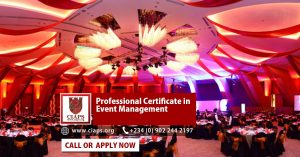 CIAPS professional certificate in event management programme