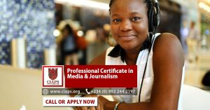 Prefessional Certificate in Media and Journalism