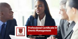 CIAPS professional certificate in event management