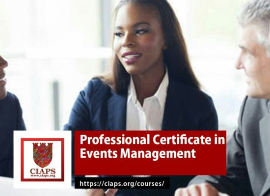 Professional Certificate in Event Management