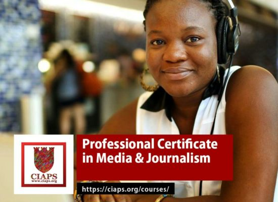 Professional Certificate in Media and Journalism
