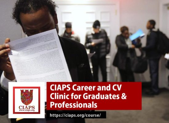 CIAPS Career and CV Clinic for Graduates & Professionals